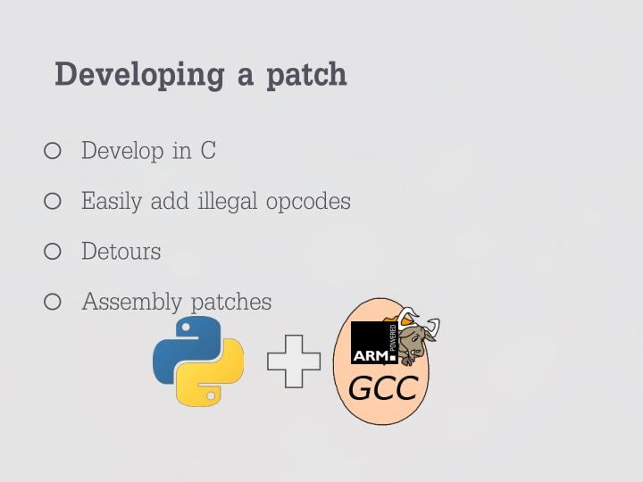 Developing a patch