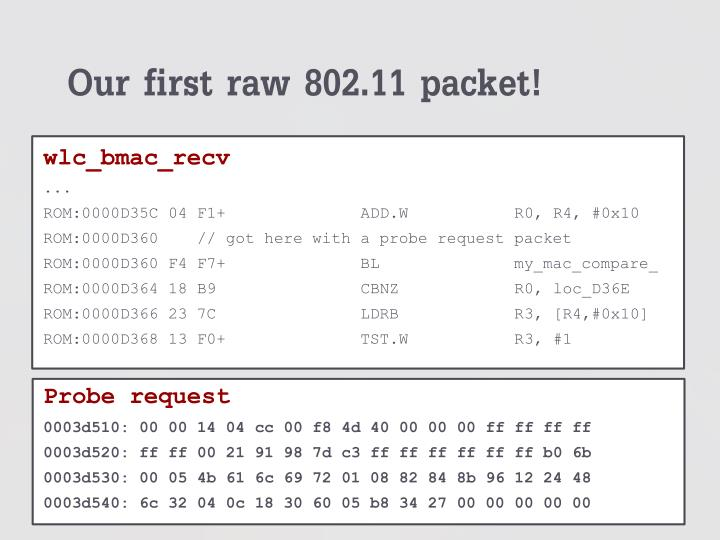 Our first raw 802.11 packet!
