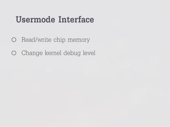 Usermode Interface