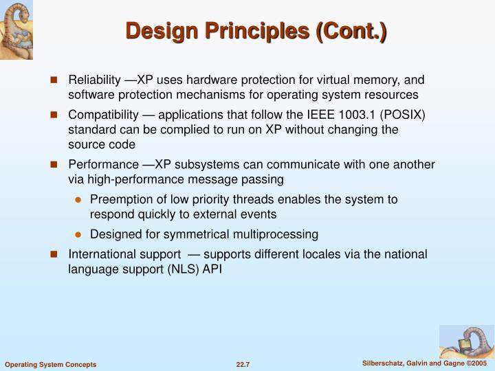 Design Principles (Cont.)