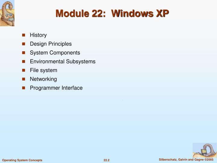 Module 22:  Windows XP