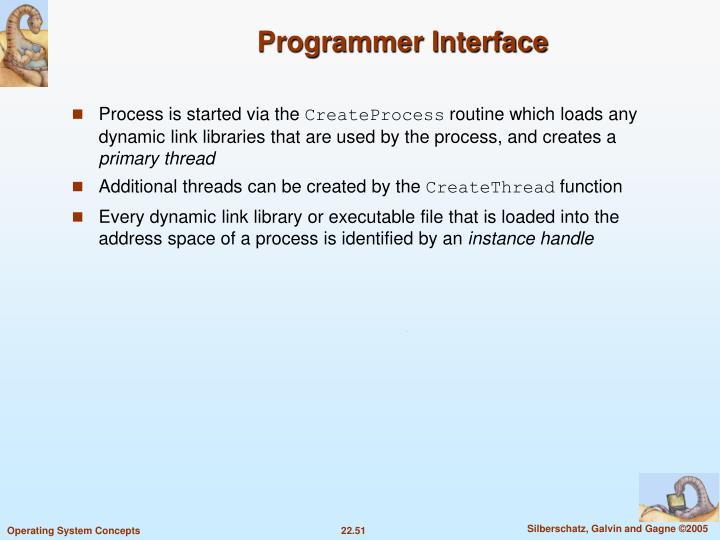Programmer Interface