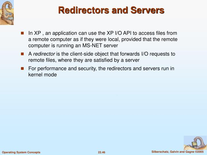 Redirectors and Servers