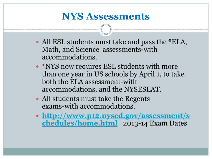 NYS Assessments