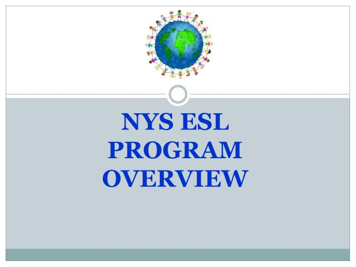 nys esl program overview