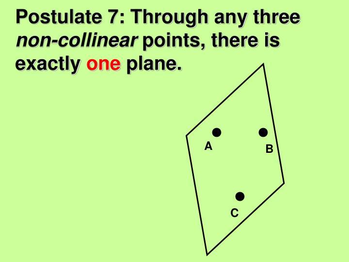 Postulate 7: Through any three