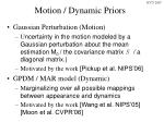 motion dynamic priors