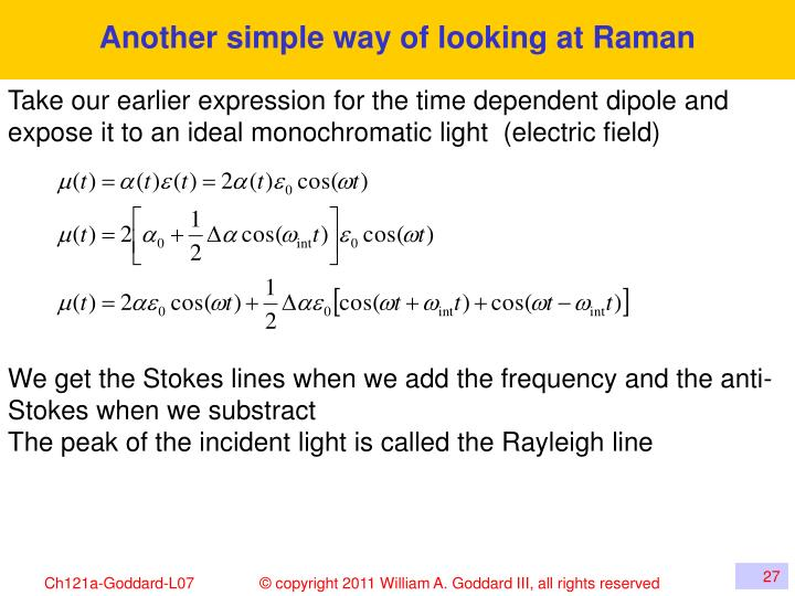 Another simple way of looking at Raman
