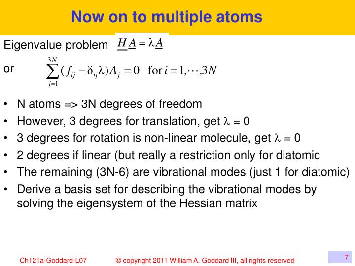 Now on to multiple atoms