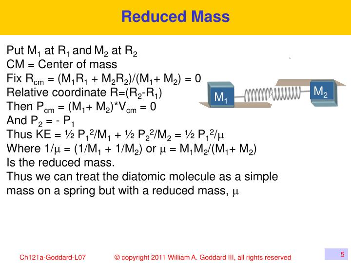Reduced Mass