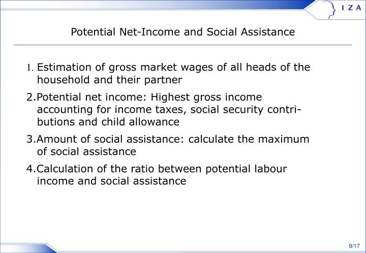 Potential Net-Income and Social Assistance