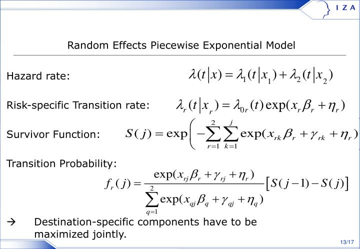 Random Effects Piecewise Exponential Model