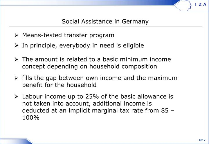 Social Assistance in Germany