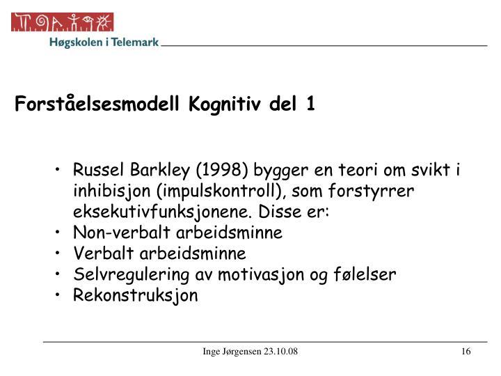 Forståelsesmodell Kognitiv del 1