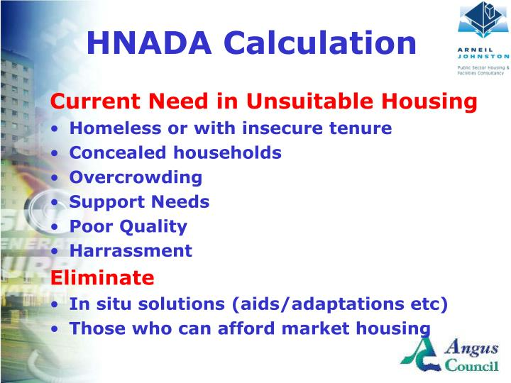 HNADA Calculation
