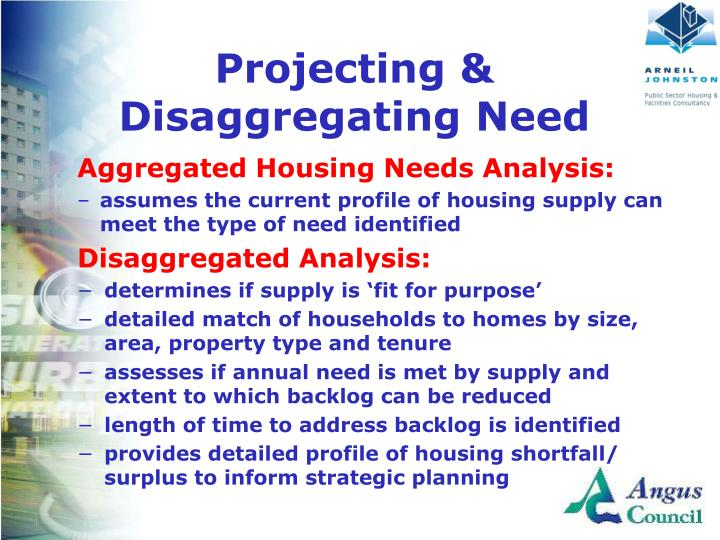 Projecting & Disaggregating Need