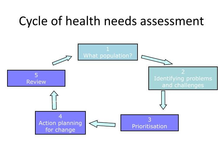 Cycle of health needs assessment