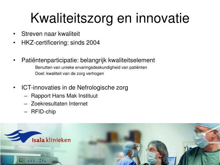 Kwaliteitszorg en innovatie