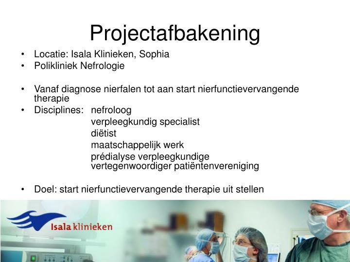 Projectafbakening