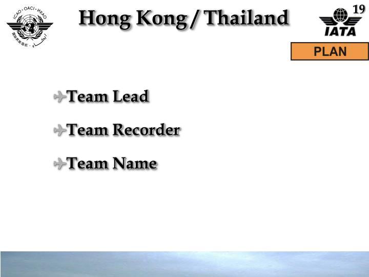 Hong Kong / Thailand