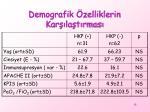 demografik zelliklerin kar la t rmas