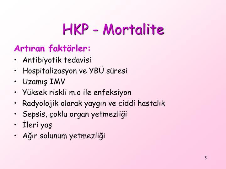 HKP - Mortalite