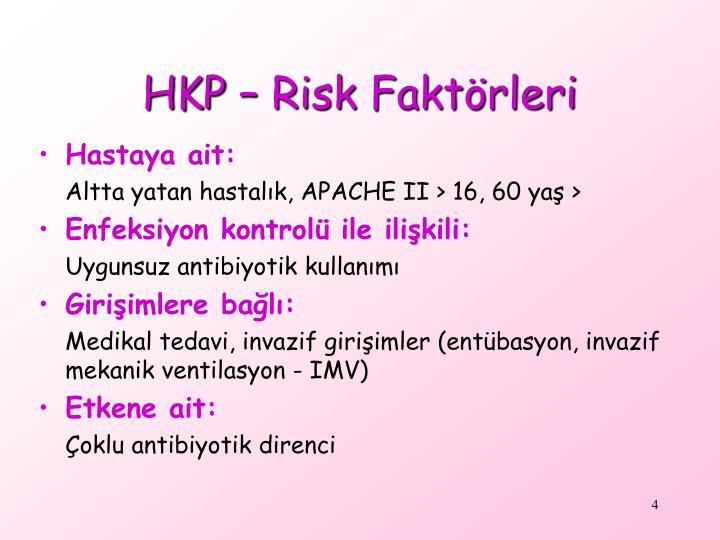 HKP – Risk Faktörleri