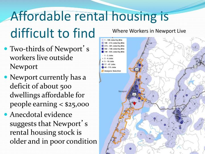 Affordable rental housing is difficult to find