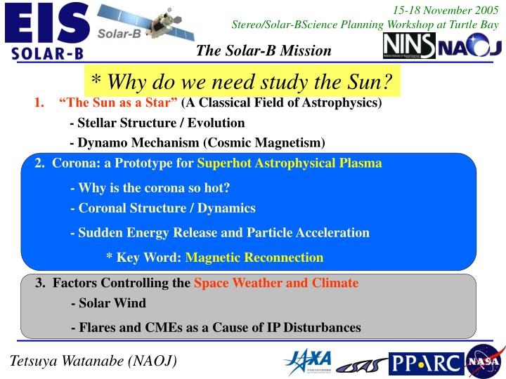 * Why do we need study the Sun?