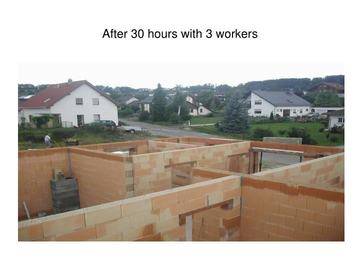 After 30 hours with 3 workers