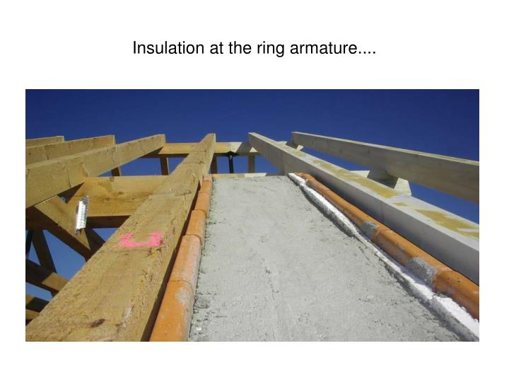 Insulation at the ring armature....