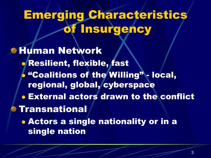 Emerging Characteristics