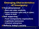emerging characteristics of insurgency1