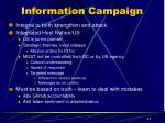 information campaign