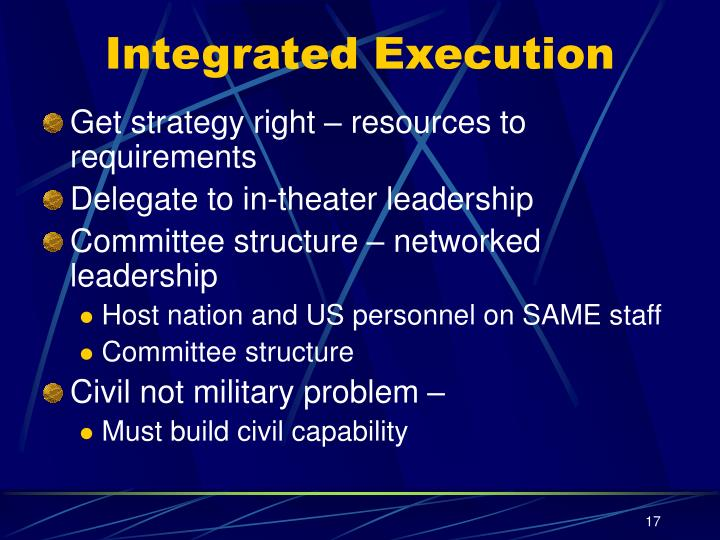 Integrated Execution