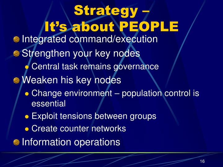 Strategy –