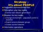 strategy it s about people