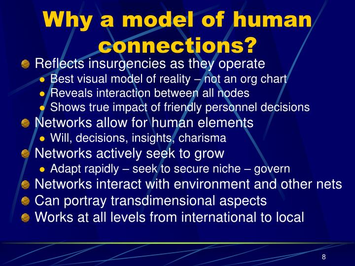 Why a model of human connections?