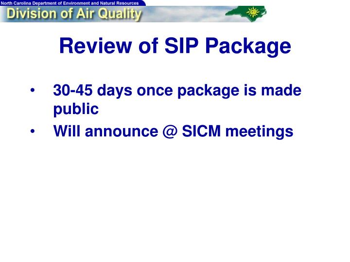 Review of SIP Package