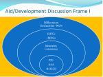 aid development discussion frame i