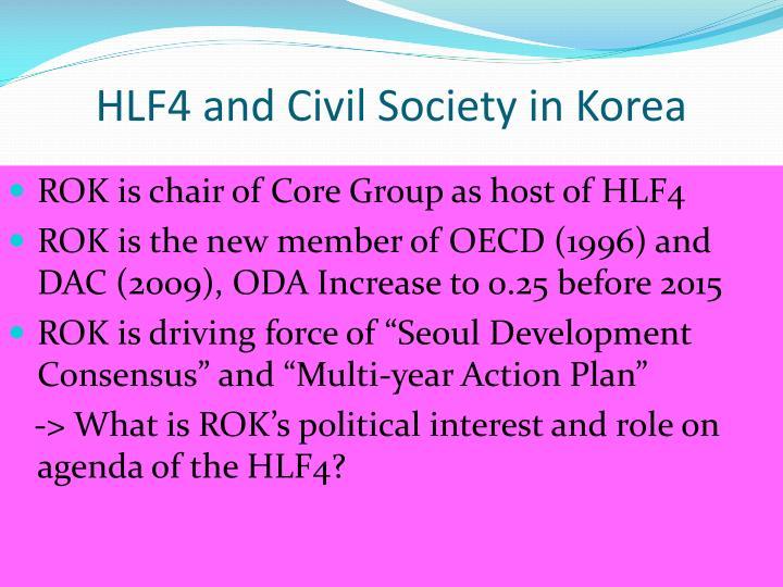 HLF4 and Civil Society in Korea