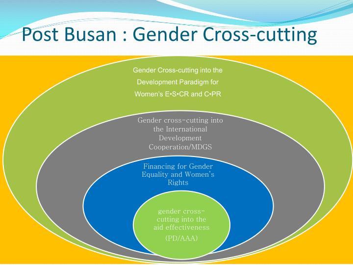 Post Busan : Gender Cross-cutting