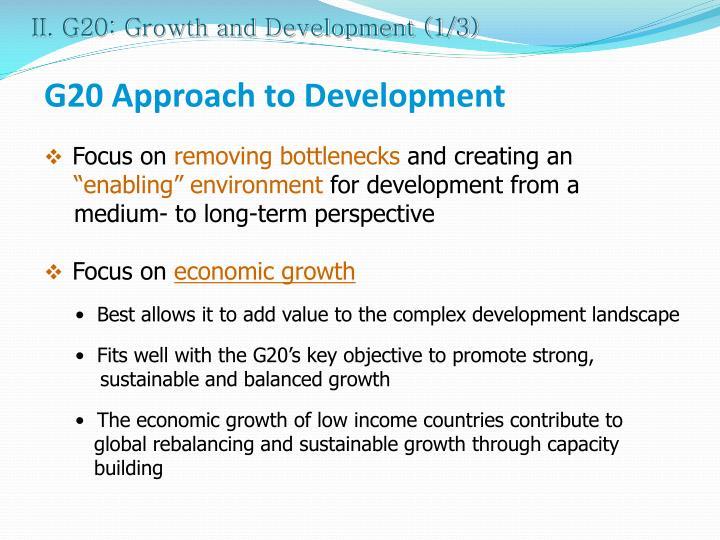 II. G20: Growth and Development (1/3)