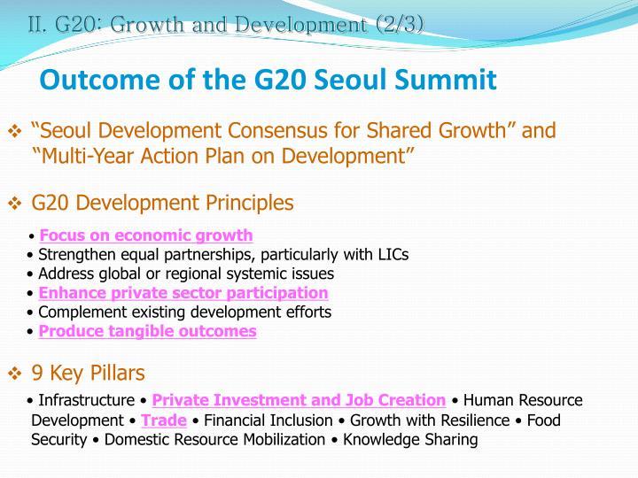 II. G20: Growth and Development (2/3)