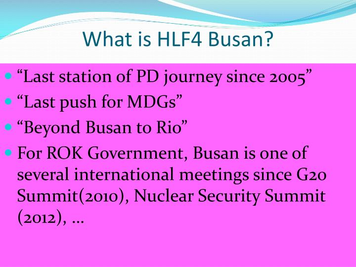 What is HLF4 Busan?