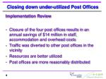 closing down under utilized post offices3
