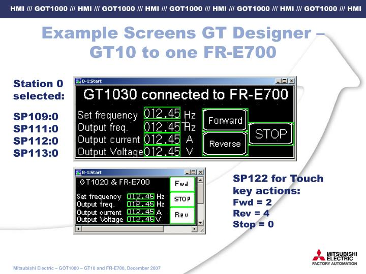 Example Screens GT Designer –