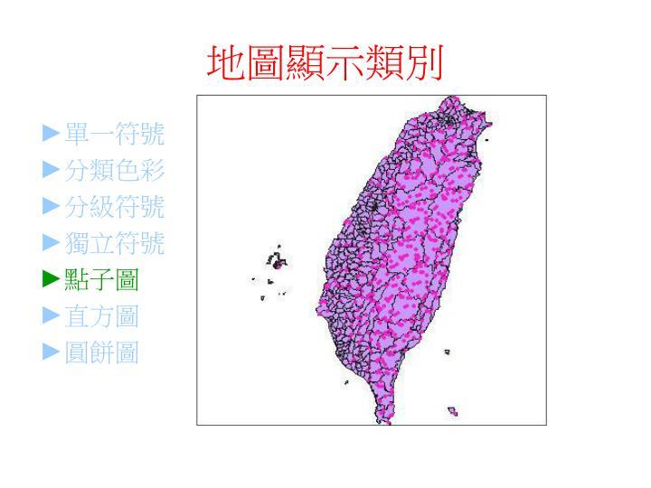 地圖顯示類別