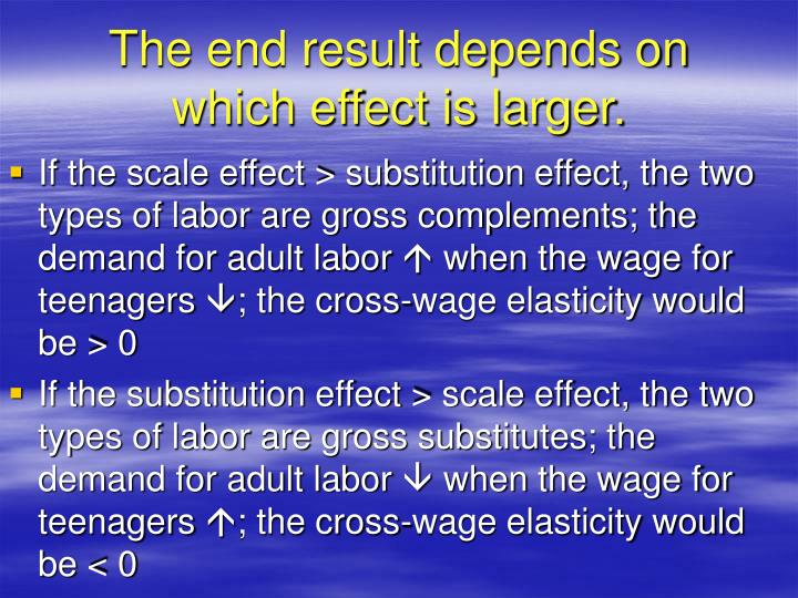 The end result depends on which effect is larger.