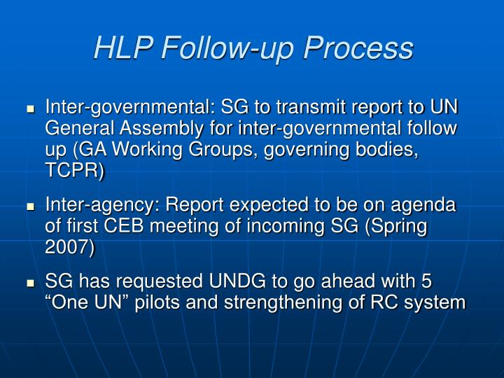 HLP Follow-up Process